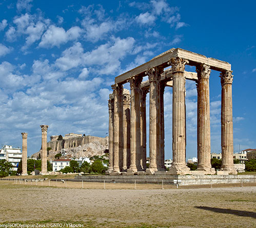"""Athens, OlympeionTemple of Olympian Zeus"" by Y.Skoulas, courtesy of GNTO, www.visitgreece.gr"