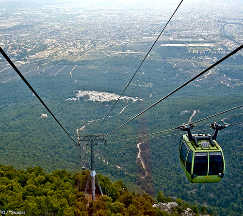"""Attica Parnitha Cable Car"" by Y.Skoulas, courtesy of GNTO, www.visitgreece.gr"
